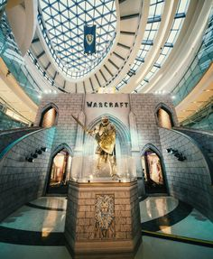 """simplehorde: """" A shopping centre in China - to promote the Warcraft movie. """""""