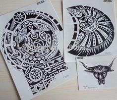 3 folhas de Tatuagem Dwayne Johnson Estrela Tamanho Grande 3D Grandes Adesivos Tatuagem Temporária para Os Homens No Peito e Ombro Tatuagens