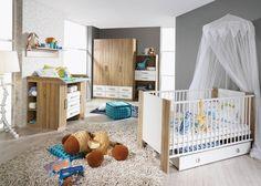 Babyzimmer Komplett Samira Kinderzimmer 6 Teilig Sonoma Weiss 8389
