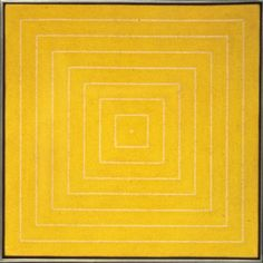Island, No. 10 by Frank Stella © Frank Stella. ARS, NY and DACS/Artimage, London 2017 #minimalism #geometricabstraction #yellow