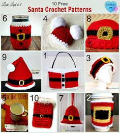 10 Free Santa Crochet Patterns