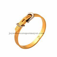adjustable pulsera de oro pulseras de bisuteria de acero inoxidable