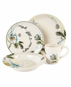 CLOSEOUT! Edie Rose by Rachel Bilson Dinnerware, Bloom and Rose Collection