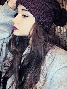 long hair cute hat