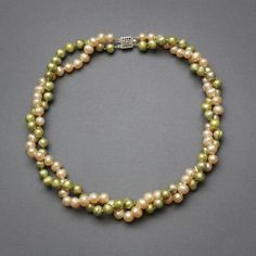 Gratia Pearl - Pink and Green Sisterhood Necklace, $88.00 (http://www.gratiapearl.com/pink-and-green-sisterhood-necklace/)