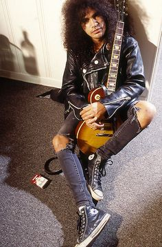 """Slash (Guns N' Roses) in 1994. (Photo Credit: William Hames)."""