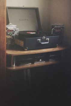 Record player.... Hoping to get one soon. Growing up my dad had one .. We'd jam out to it often. :)❤   - side note: any of you music junkies have a preferred brand? Old, or new? I'd love to hear!