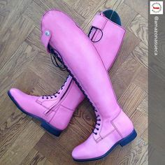 The Pink boots are back and this time in Sweden with Equestrian Chic, Equestrian Outfits, Equestrian Fashion, Horse Riding Boots, Brown Riding Boots, Dressage Horses, Horse Tack, Horse Fashion, English Riding
