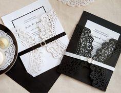 convite preto e branco