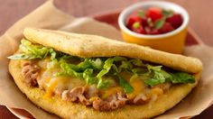 Cornmeal adds a delightful touch to these gorditas that are ready to eat in 30 minutes!