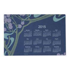 2015 Calendar by Janz Laminated Art Nouveau 12x18