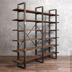 Мебель ручной работы. СТЕЛЛАЖ БЕЛФАСТ. Loft.. Beard Druid. Интернет-магазин Ярмарка Мастеров. Металл, интерьер, мебель из дерева