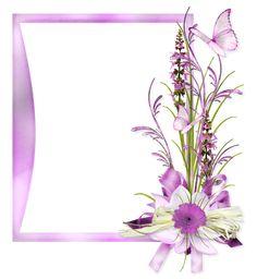 Pinks~~J Frame Border Design, Page Borders Design, Borders For Paper, Borders And Frames, Butterfly Frame, Flower Frame, Cute Scrapbooks, Birthday Frames, Landscape Drawings