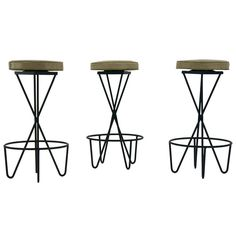 3 Hairpin Bar Stools By Paul Tuttle   From a unique collection of antique and modern stools at http://www.1stdibs.com/furniture/seating/stools/