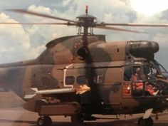 SAAM Puma with missile Military Helicopter, Military Aircraft, South African Air Force, F14 Tomcat, War Machine, Vietnam War, Pilot, Aviation, Wasp