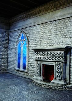 Gothic Moon Revisited Again.By Ken Ken Haseltine Doll Furniture, Dollhouse Furniture, Dolly House, Halloween Graveyard, Prop Making, Halloween 2016, Haunted Places, Victorian Gothic, Magick