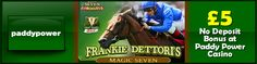 Play Frankie Dettori's Magic Seven Slot at Paddy Power Casino: http://www.casinomanual.co.uk/play-frankie-dettoris-magic-slot-paddy-power-casino/