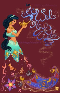 Wallpaper disney aladdin world 50 ideas Deco Disney, Disney Artwork, Disney Princess Art, Disney Films, Disney Fan Art, Disney And Dreamworks, Disney Drawings, Disney Love, Princess Jasmine Art