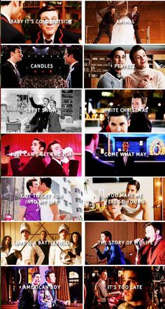 Just some of the duets Klaine have done in Glee love their duets they are solo adorable x