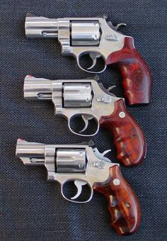 S&W stainless snubs: 629, 686, 66 357 Magnum, Home Defense, Self Defense, Weapons Guns, Guns And Ammo, Rifles, Bushcraft, Aigle Animal, Smith And Wesson Revolvers