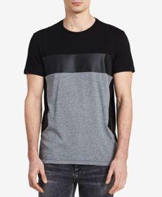 CALVIN KLEIN Calvin Klein Men S Tricolor Colorblocked T-Shirt .  calvinklein   cloth   fcc1bd110a