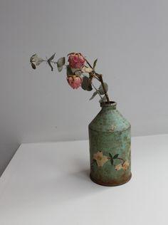 vintage can vase