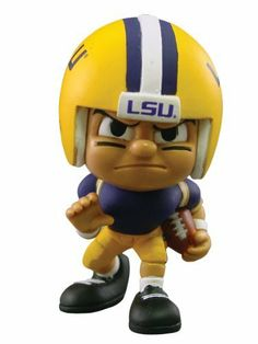 """Lil' Teammates Series 1 LSU Tigers Running Back by The Party Animal Inc.. $9.99. Series 1 collectible. Officially licensed. Rotating heads. Interactive website at www.lilteammates.com. 3"""" tall. From the Manufacturer                These little guys, dressed in the uniforms of your favorite teams, are 3"""" tall and feature very animated faces and rotating heads. Collect all the positions and teams in Series 1, while you can.                                    Product..."""