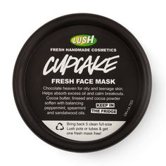 Can't wait to try this, its in the fridge waiting!   lush face masks | LUSH Cupcake Fresh Face Mask Review