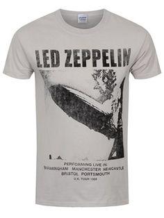 db735058016c6 Led Zeppelin UK Tour 1969 Men s Ice Grey T-Shirt
