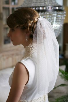 Cute dotted tulle veil