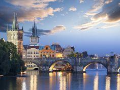 Beautiful evening in Prague