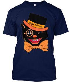 Happy Halloween Navy T-Shirt Front