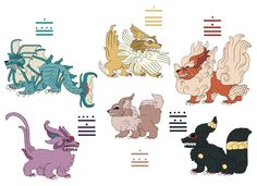 Pokemayan Eevelutions - I really like the details on these.