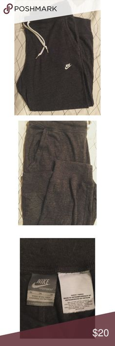 Nike Joggers Gray Nike joggers, excellent used condition. Women's medium. Nike Pants Track Pants & Joggers