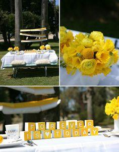 yellow wedding-reception-inspiration