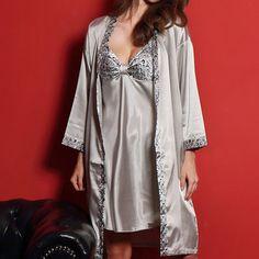 f1586b895e8 9 Best Slips Flesh Ice Silk Belt+Dress+T-string Sleepwear Set M ...