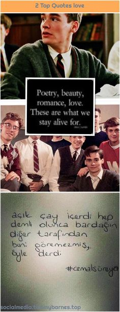 """""""Dead Poets Society"""" 1990 – 17 years – The beginning … """"Dead Poets Society"""" 1990 – 17 years – The beginning … """"Dead Poets Society"""" 1990 – 17 years – The beginning … – - Dead Poets Society, Top Quotes, Staying Alive, Girls In Love, Poetry Quotes, Poems, Romance, Street, Happy"""