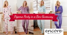 Grab your best girlfriends and have the ultimate pajama party - Boscov's has made it simple! Facebook Giveaway, Instant Win Games, Pajama Party, Party In A Box, Make It Simple, Girlfriends, Pajamas, Clothes, Pjs