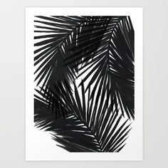 Buy Palms Black Art Print by Caitlin Workman. Worldwide shipping available at Society6.com. Just one of millions of high quality products available.