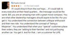 Thanks Frank!  #CustomerService #AllenSamuelsChryslerDodgeJeepRam