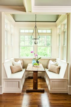 Love this cozy little breakfast nook! - Structures Building Inc.