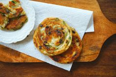 Home-made Green Onion Pancakes is such a treat. It's so good, and you can eat these pancakes on their own, without any dipping sauce.