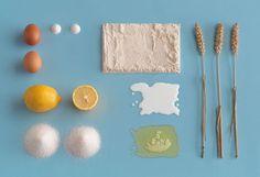"IKEA ""Homemade Is Best"" minimalist cookbook // Bundt cake ingredients spread // Carl Kleiner"