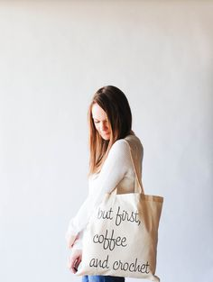 Ready to ship / Screenprinted Canvas Tote Bag / But by ozetta