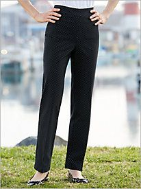 Slimtacular® Pin Dot Print Pants