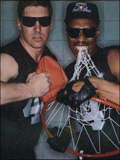 Bill Laimbeer and Rick Mahorn Bad Boys,Detroit Pistons Detroit Basketball, Pistons Basketball, Detroit Sports, Basketball Is Life, Basketball Players, Ben Wallace, Detroit Rock City, Detroit Michigan, Derrick Rose