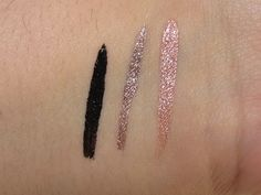Physicians Formula Shimmer Strips Liquid Metal Eyeliner Trio Swatches