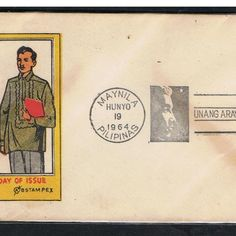 1948 Manila Philippines First Day Cover FDC - HONORING OF DR. JOSE RIZAL Jose Rizal, Manila Philippines, First Day Covers, Stamps, Seals, Postage Stamps, Stamp