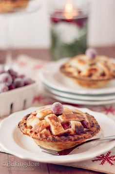 Cranberry Pear Pie. Yum.