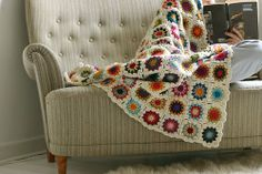 Modern + Traditional:  Adding Color with Crocheted Granny Squares ...